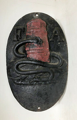 Fire Association of Philadelphia Insurance Co. CAST IRON MARKER/SIGN/PLAQUE