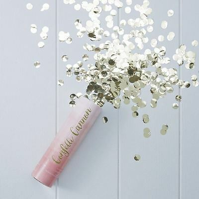 Luxury Gold Pink Foiled Ombre Compressed AIR CONFETTI CANNON POPPER 15cm High