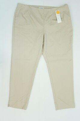 a13495d66c5 Charter Club Womens Pants 18 Classic Fit Slim Leg Ankle Pants Beige 28
