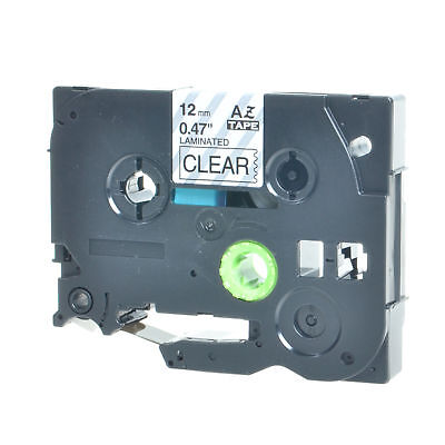 5X 12mm Black on Clear TZe-131 label tape For Brother P-touch PT-D210 TZ-131#C#