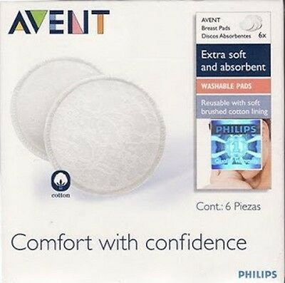 PHILLIPS AVENT WASHABLE reusable BREAST PADS Reusable Boots Philips pads