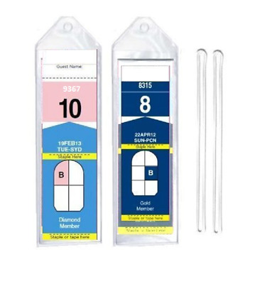 8 Cruise Luggage Tag Holders (Narrow) w/ Loops for Royal Caribbean and Celebrity