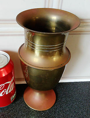 Vintage Copper Vase/Pot With Signed-BRITISH MAKE.H-19cm/W-350g.Rare /Collectible
