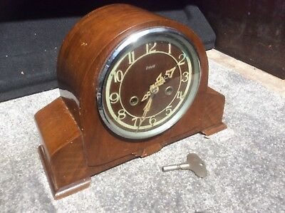 Excellent British Enfield Striking Mantle Clock With Key