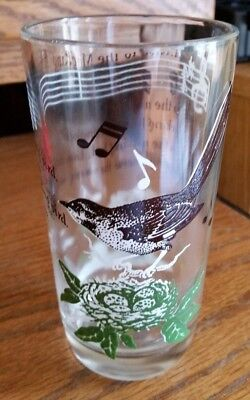 "Vintage Swanky Juice Tumbler Glass ""Listen to the Mocking Bird"""