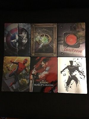 MARVEL CINEMATIC UNIVERSE Phase 3 SteelBook Complete Set Used Please Read