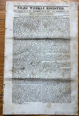 1827 newspaper EARLY INDIAN REMOVAL of CHEROKEE and Creek Tribes TRAIL OF TEARS