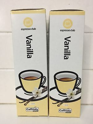 20 VANILLA Coffee capsules ESPRESSO CAFFITALY 100% Kosher Free Shipping+Tracking