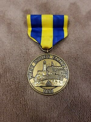 West Indies Campaign Medal Navy Issue 1898 Service Medal