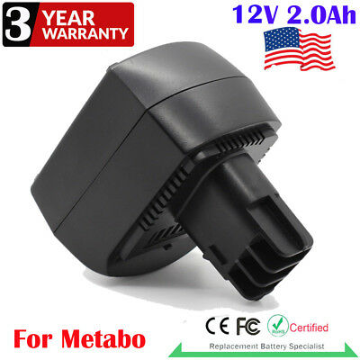 12V 2.0Ah NI-MH Replacement Battery For Metabo BSZ12 BS12SP Electric Drill Tools
