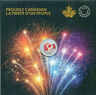 2017 Canada Proudly Canadian Glow-In-Dark .9999 Pure Silver 150th Flag