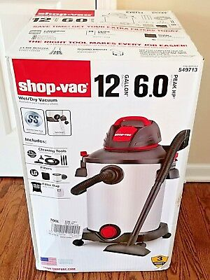 Shop-Vac 12 Gallon 6 Peak HP Stainless Steel Wet/Dry Vacuum with Blower