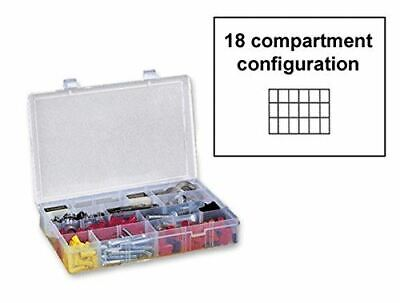 Large Plastic 18 Compartment Storage Box - Clear