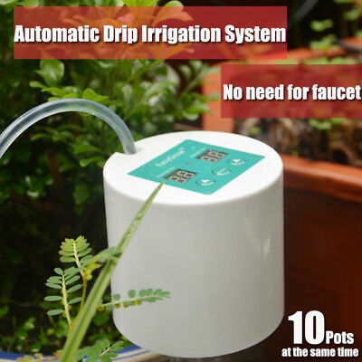 Micro Automatic Drip Irrigation Sprinkler Home Garden Self Watering System DIY