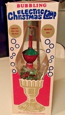 Vintage Bubbling Electric Christmas Lamp By Universal Lites