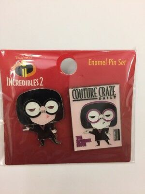 Disney Loungefly Edna Mode Couture Craze Daily Incredibles 2 Pin Set BoxLunch