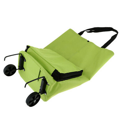 Oxford Foldable Wheel Bag Shopping Camping Trolley Storage Carrier Cart Tote
