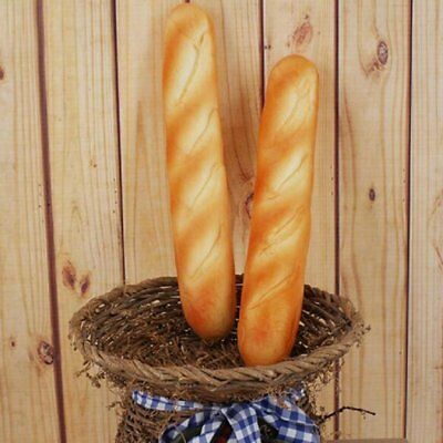 2x Artificial French Baguette Fake Bread Stick Food Home Decor Props Kids Toy US