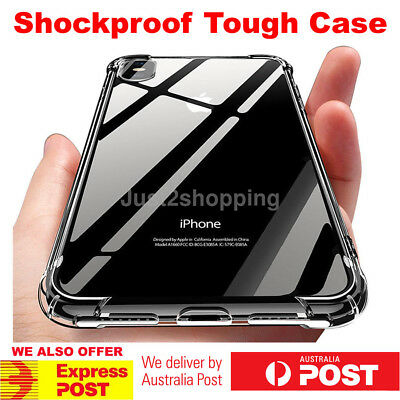 Shockproof Tough iPhone Xs Max Xr X 8 7 Plus Hard Gel Clear Case Cover for Apple