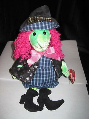 Ty Beanie Babies SCARY Witch with Pink Hair w/Tags