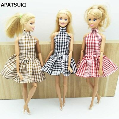 "1:6 Fashion Dress For 11.5"" Doll Plaid Party Dress Clothes For 1/6 Dollhouse"
