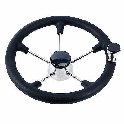 13-1/2'' Boat Steering Wheel With Knob 5 Spoke destroyer style Motors Control