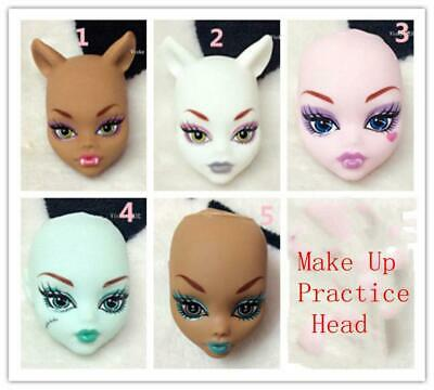 Practice Makeup Doll Head For Monster High Doll Practicing Make Up Monster Head