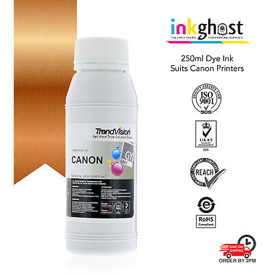 250ml Grey dye ink for Canon printer CLI521GY for CISS & gray refill cartridge