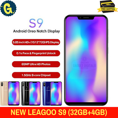 """Brand New LEAGOO S9 4GB+32GB 5.85"""" inch Android 8.1 Latest Android Smartphone UK"""