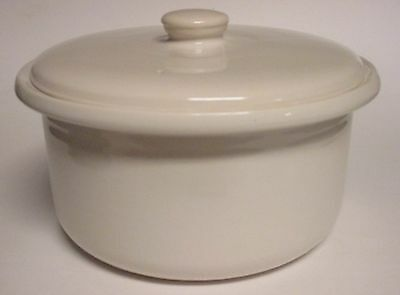3 Qt LeRoy Flame Oven Ware Dutch Oven Covered Casserole Vegetable Dish Off White