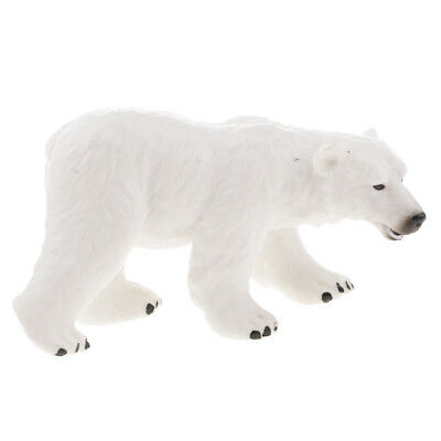 Realistic Polar Bear Wild Animal Figurine Model Action Figure Kids Toy Gift
