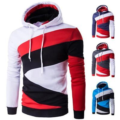 a93bc2c8 Novelty Mooncolour Mens Novelty Color Block Hoodies Cozy Sport Outwear