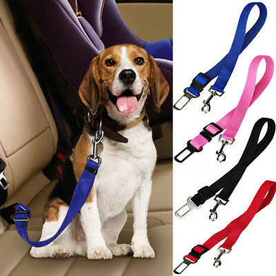 Adjustable Pet Dog Harnesses Seat Belt Lead Restraint Strap Car Safety Clip UK