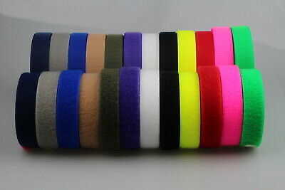 """Hook and Loop 25mm 1"""" x 5 metres Fastening Strap tape both sides Horse Dog Coats"""
