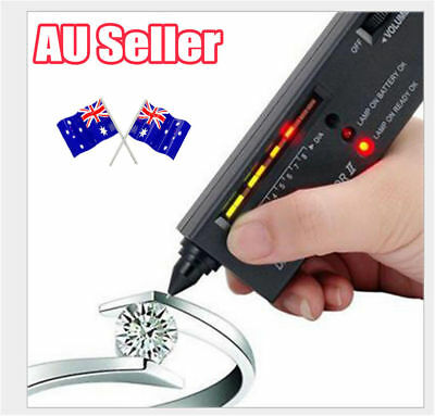 V2 Diamond Tester Selector Gemstone Tool Gems Jewelry Test Tool LED Audio OD