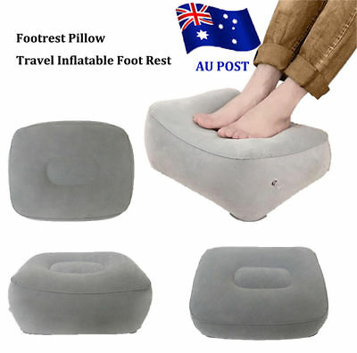 Plane Train Flight Travel Inflatable Foot Rest Portable Pad Footrest Pillow OD