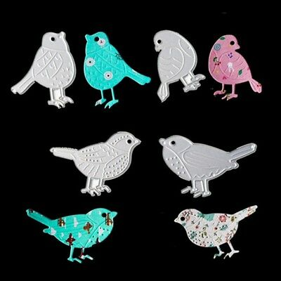 4pcs Birds Metal Cutting Dies Stencil For DIY Scrapbooking Card Embossing Craft
