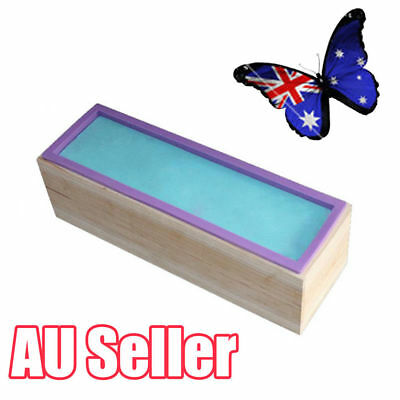 Wood Loaf Soap Mould with Silicone Mold Cake Making Wooden Box 1.2kg soap OD