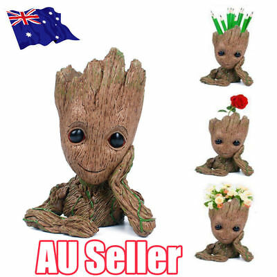 Guardians of The Galaxy Baby Groot Figure Flowerpot Pen Pot Toy Gifts 16CM OD