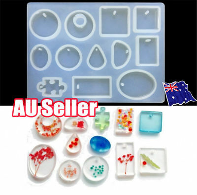 12 Silicone Mould Pendant Jewelry Making Necklace Mold Craft DIY Resin Round OD