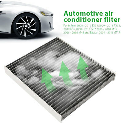 C25870 CARBONIZED CABIN AIR FILTER FOR INFINITI FITS Q50 2014-2015