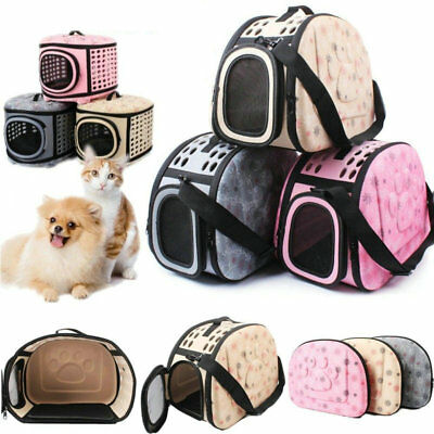 Portable Foldable Pet Soft Dog Cat Carrier Crate Travel Cage Kennel Large S/M/L
