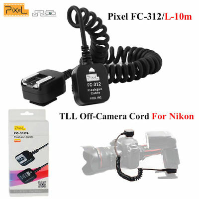 Pixel FC-312 L/10m TTL Off-Camera Flash Sync Extension Cord Flashgun for Nikon