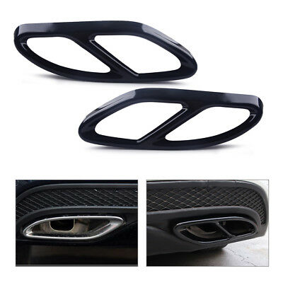 Exhaust Tip Mercedes Benz Pipe for CLA 2016-2017 Cover Muffler Trim 2pcs Tail