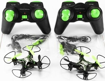 Lot 6x Protocol Neo-Drone Mini Quadcopter Drone for Parts or Repair, Working!!!