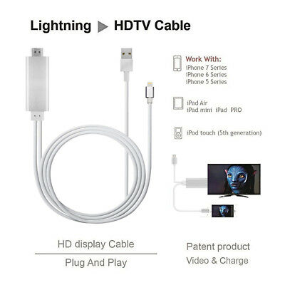Lightning Digtal AV Cabel  8 Pin to HDMI Cable Adapter 1080P 2M for iPhone to TV