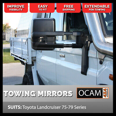 OCAM Extendable Towing Mirrors For Toyota Landcruiser 70 75 76 78 79 Series, Man