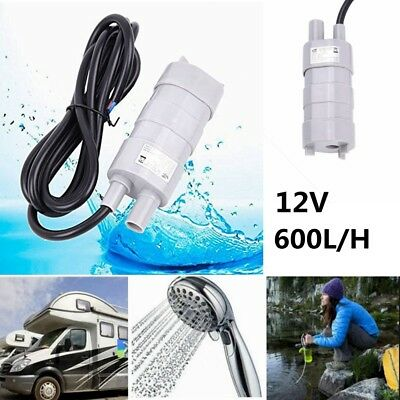 12V Submersible Water Pump Camper Caravan Motorhome High Flow Whale Pump