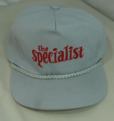"You Can Be ""the Specialist"" Grey Baseball Cap Hat Adj Size Collectible Unused"