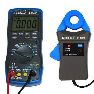Profi Digital Multimeter TrueRMS mit mA Stromzange AC DC 6000 Counts CAT.III